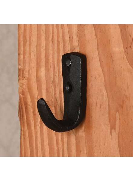 HomArt Small Blak Cabin Wall Hook - Set of 4