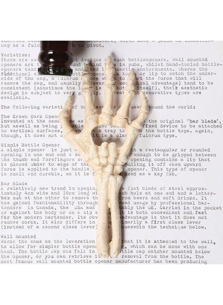 HomArt Skeleton Hand Bottle Opener - Cast Iron