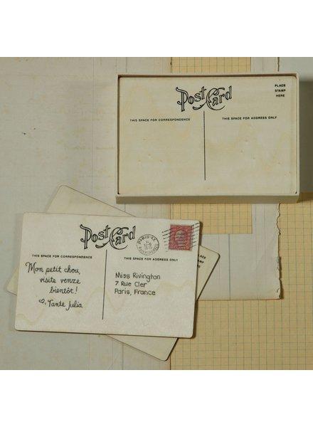 HomArt Post Card - Classic - Box of 12 - Natural Wood