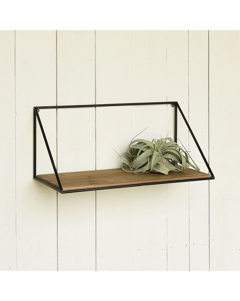 HomArt Hull Wood & Iron Shelf - Med