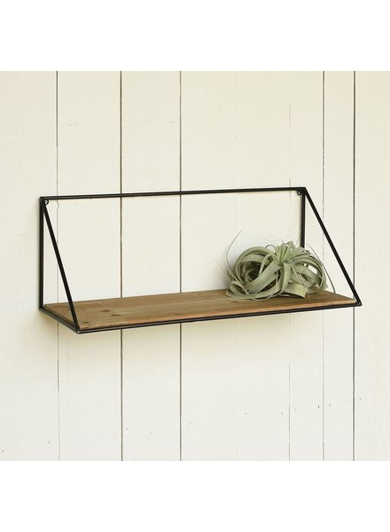 HomArt Hull Wood & Iron Shelf - Lrg