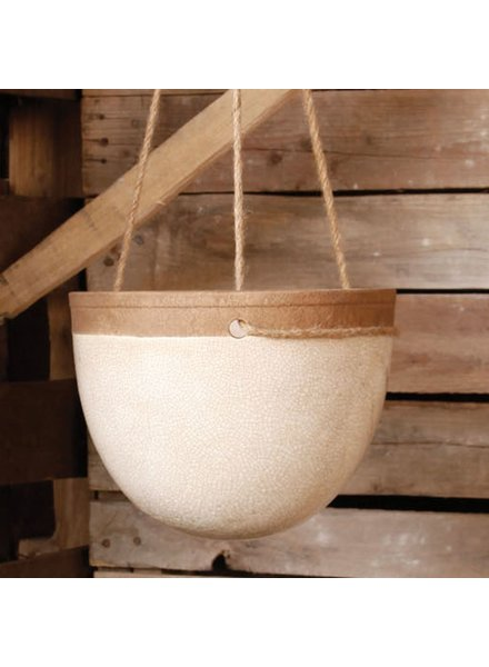HomArt Mulberry Hanging Planter - Sm - White