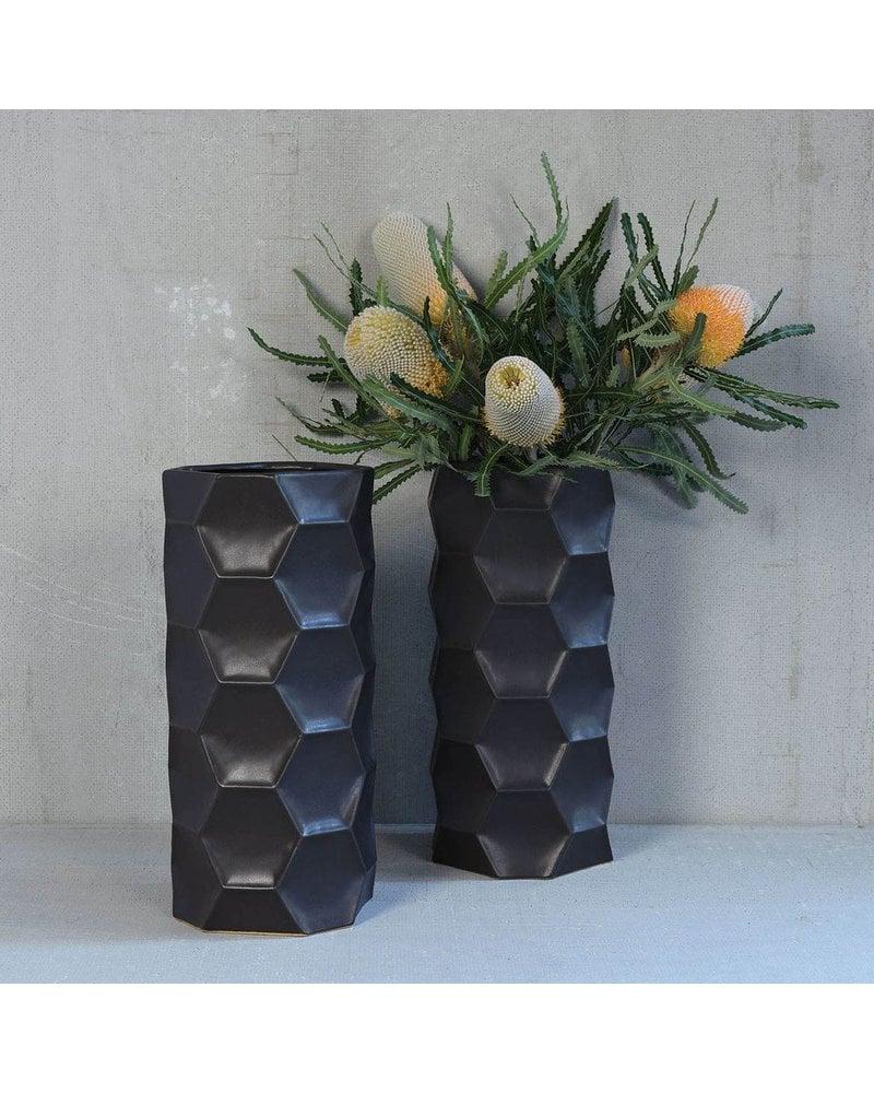 HomArt Kane Ceramic Vase - Grand - Matte Charcoal