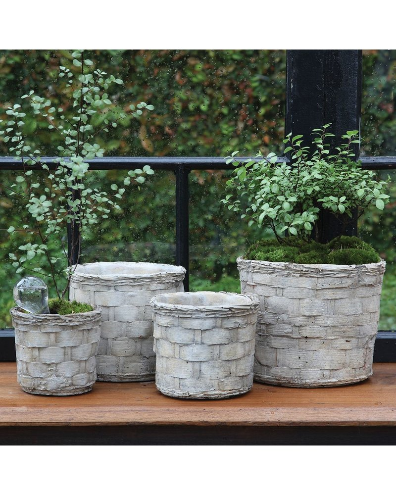 HomArt Cement Basket - Plaited Weave - Petite