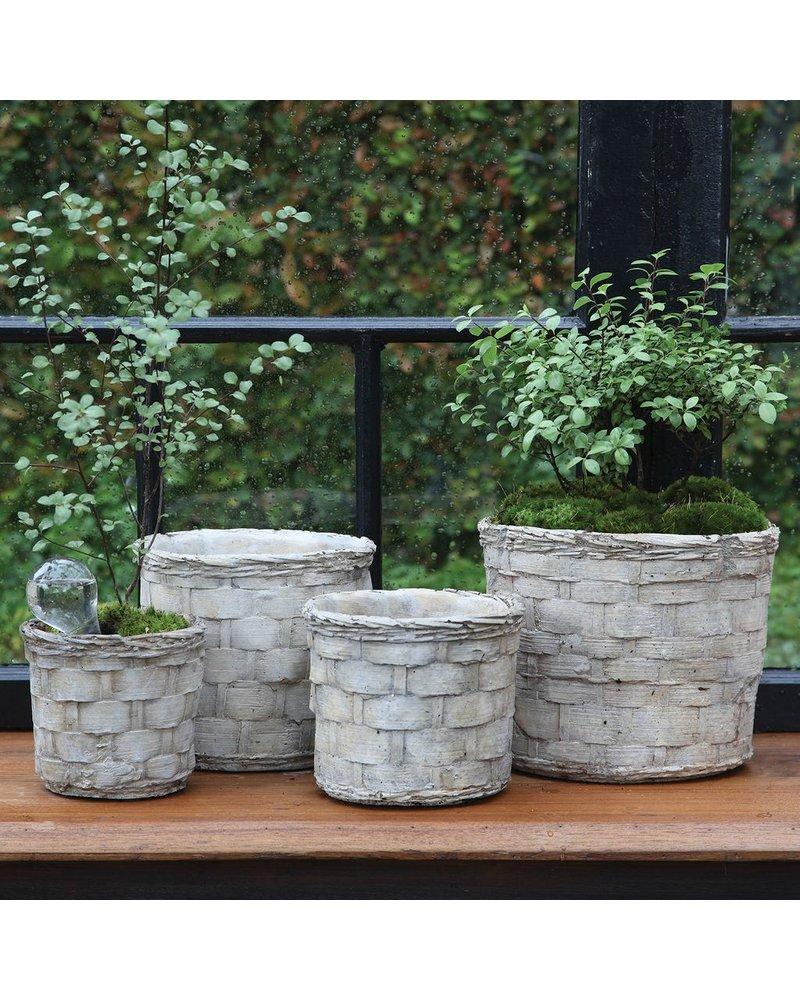 HomArt Cement Basket - Plaited Weave - Sm