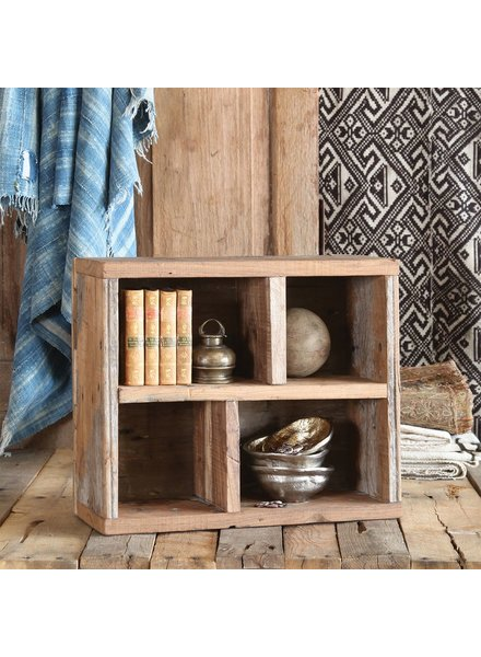HomArt Market Salvaged Wood Crate with Dividers - Vertical and Horizontal - Natural