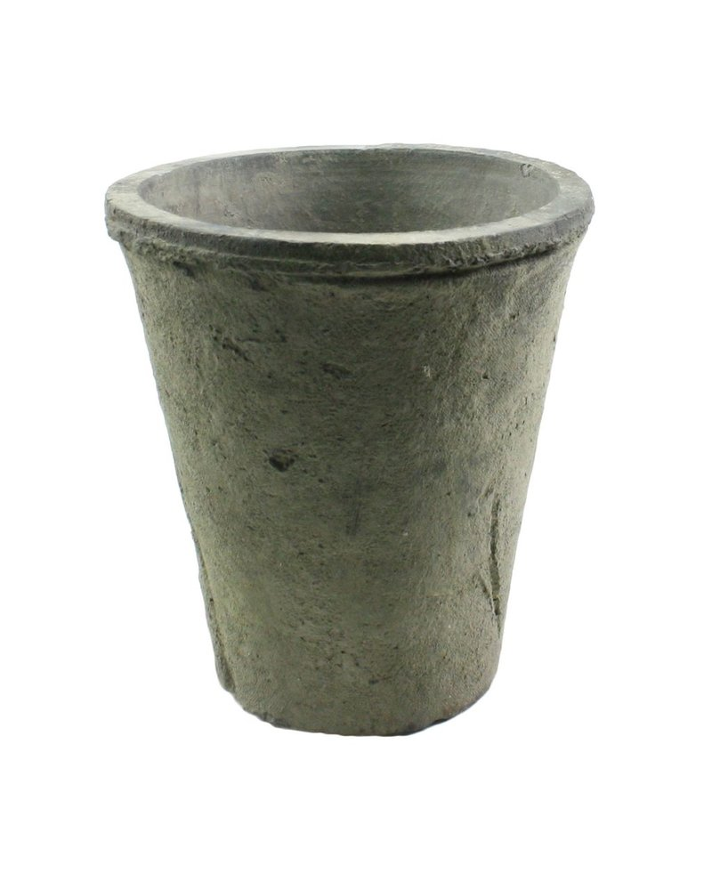 HomArt Rustic Terra Cotta Rose Pot - Sm - Moss Grey - Set of 2