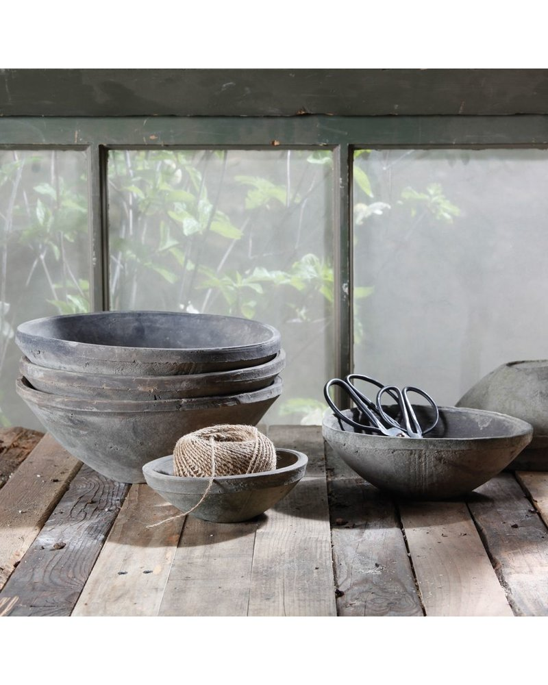 HomArt Rustic Terra Cotta Bowl - Sm - Moss Grey - Set of 2