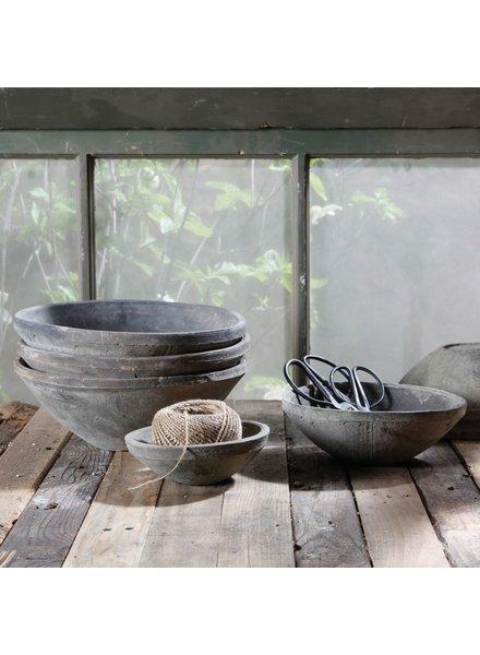 HomArt Rustic Terra Cotta Bowl - Lrg - Moss Grey
