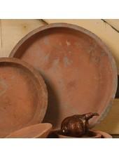 HomArt Rustic Terra Cotta Saucer 10.5 in - Antique Red