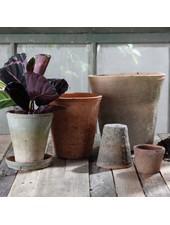 HomArt Rustic Terra Cotta Rose Pot - Petite - Antique Red Set of 4