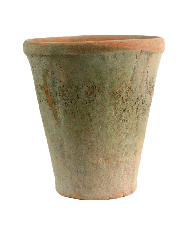 HomArt Rustic Terra Cotta Rose Pot - Lrg - Antique Red