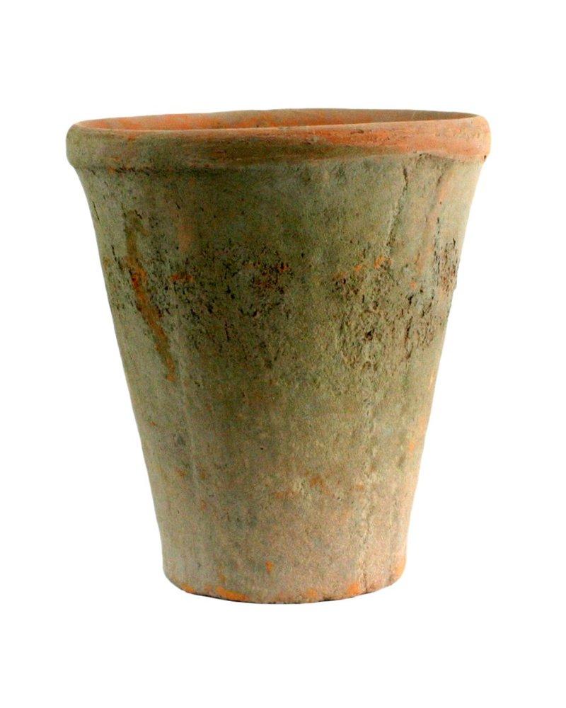 HomArt Rustic Terra Cotta Rose Pot - Grande - Antique Red