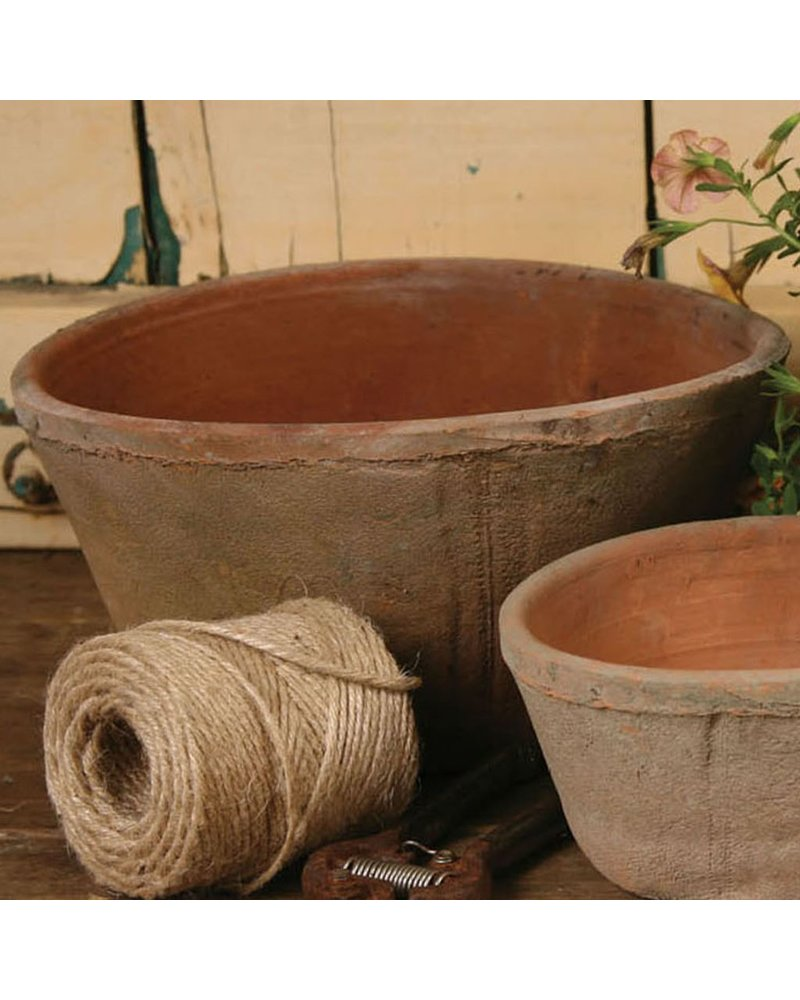 HomArt Rustic Terra Cotta Oval Pot - Med - Antique Red