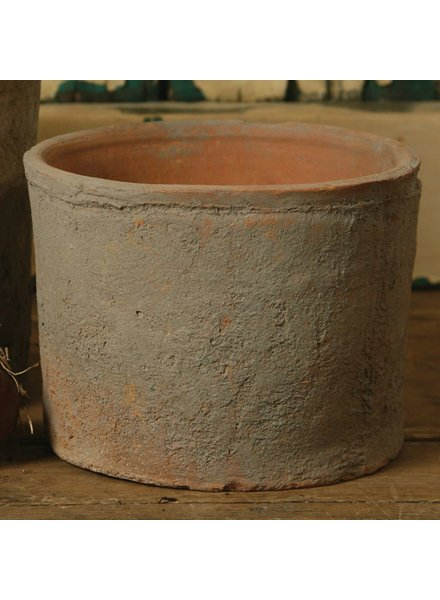 HomArt Rustic Terra Cotta Cylinder - Sm - Antique Red