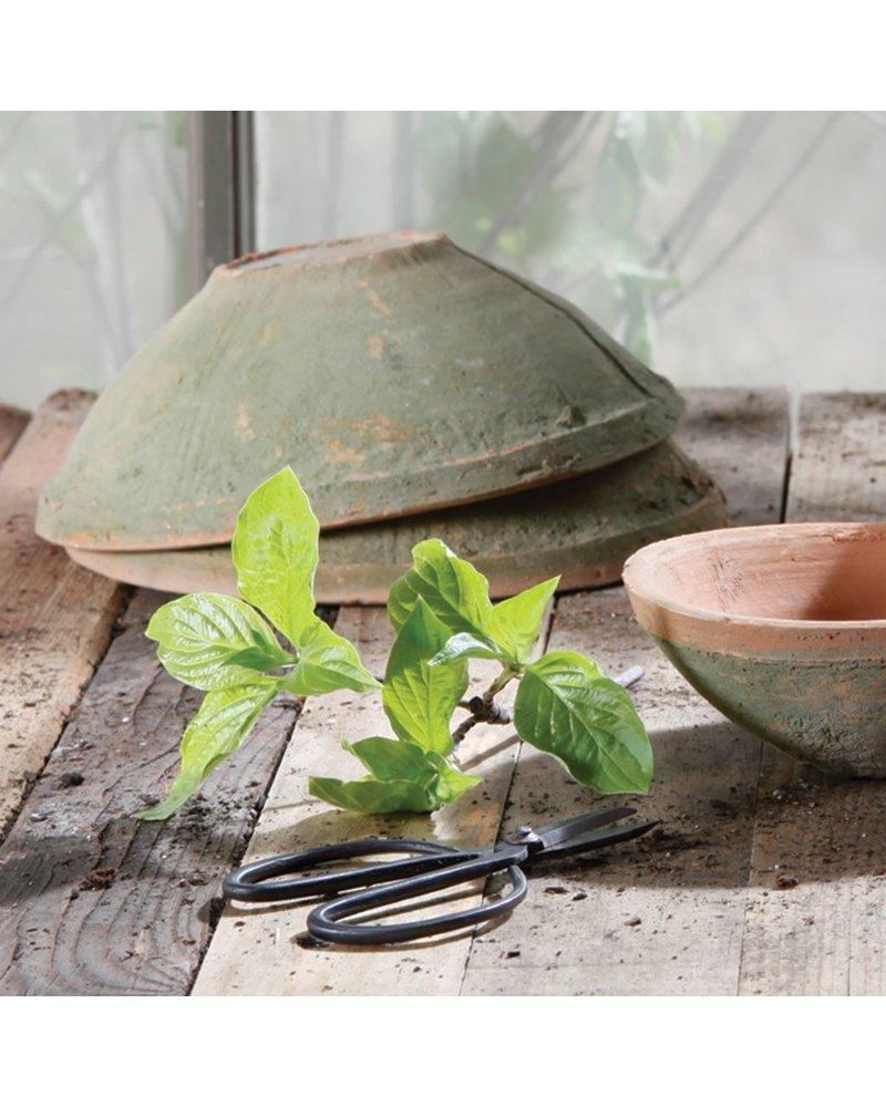 HomArt Rustic Terra Cotta Bowl - Med - Antique Red