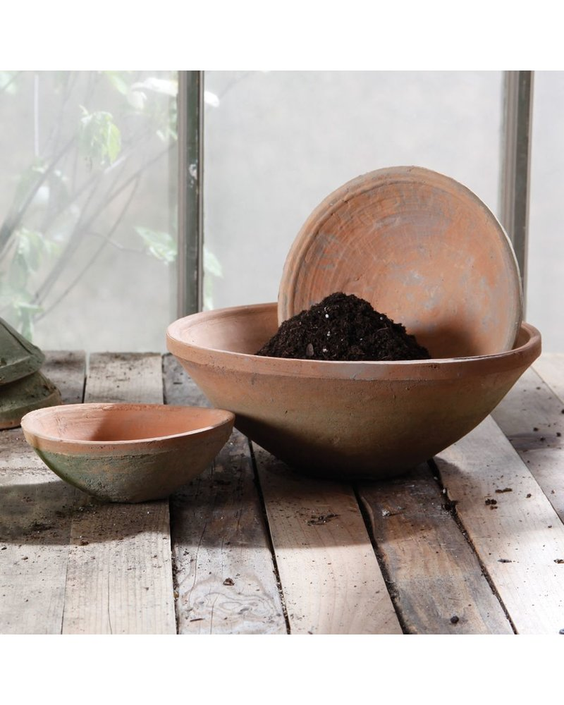 HomArt Rustic Terra Cotta Bowl - Lrg - Antique Red
