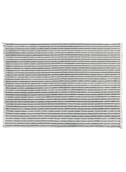 HomArt Block Print Cotton Rug, 8x10 - Sawtooth Stripe