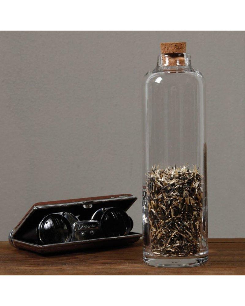 HomArt Crue Glass Bottle - Sm - Clear - Set of 2