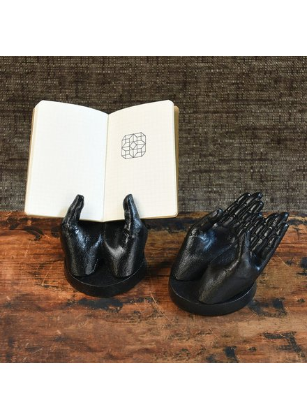 HomArt Two Hand Card Holder - Antique Black