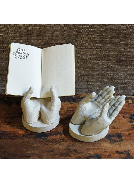 HomArt Two Hand Card Holder - Antique White