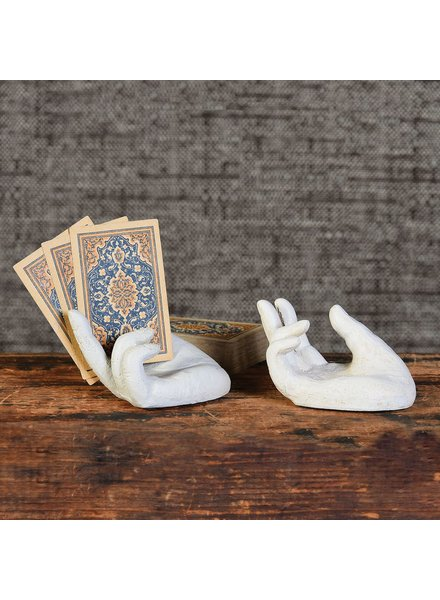 HomArt Single Hand Card Holder - Antique White