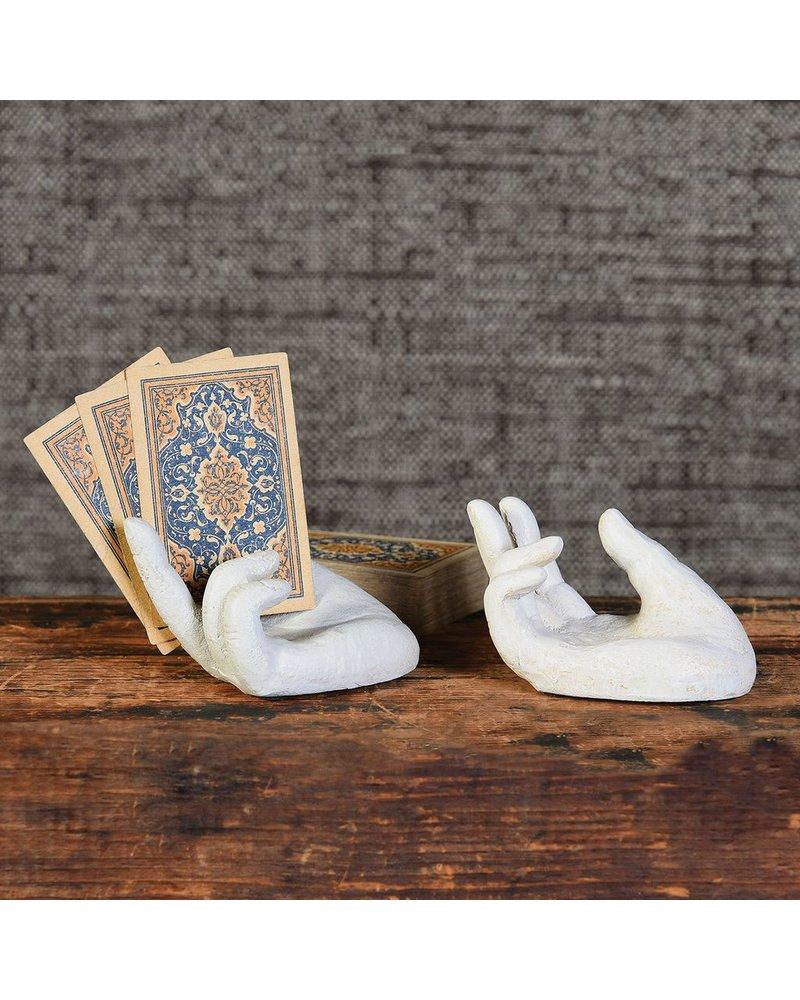 HomArt Single Hand Card Holder - Antique White