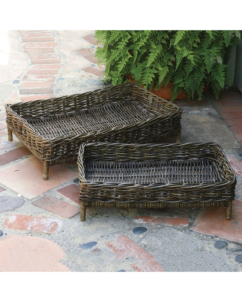 HomArt Montauk Entertaining Trays - Set of 2 - Rustique Dark Grey