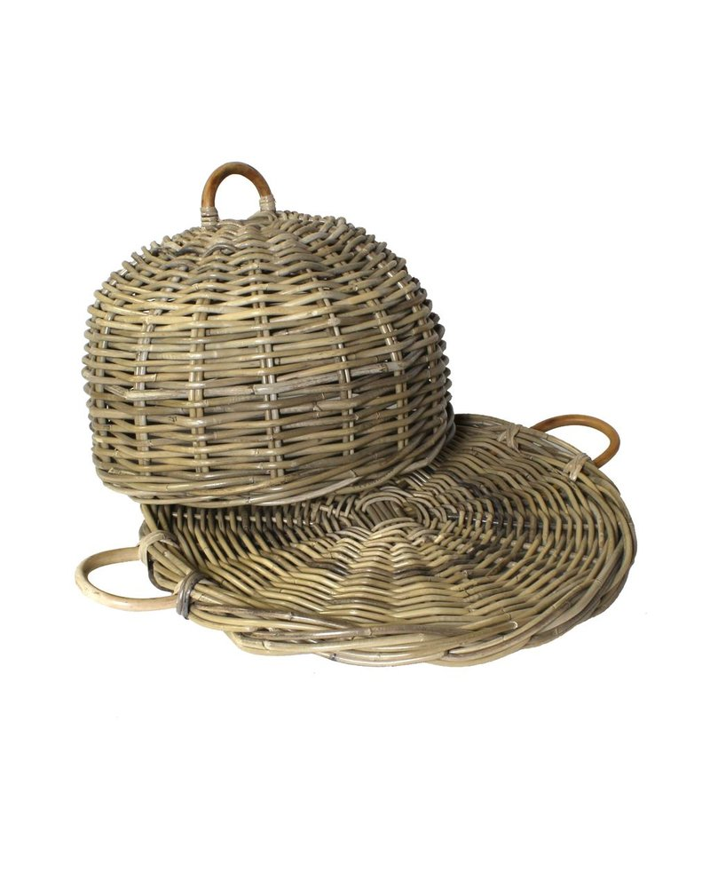 HomArt Hampton Rattan Food Cover - Rustique Dark Grey