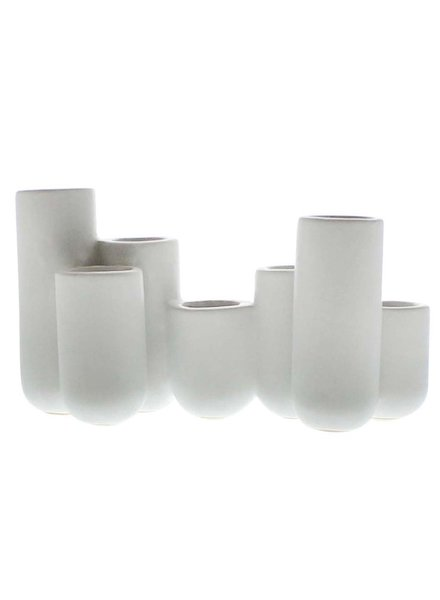 HomArt Luna Ceramic Bud Vase Cluster - Matte White