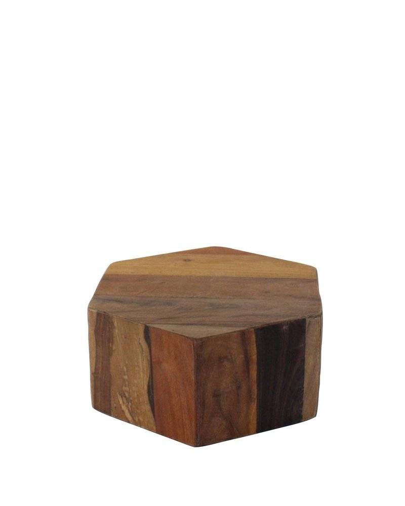 HomArt Hexagonal Wood Block - Sm - Natural