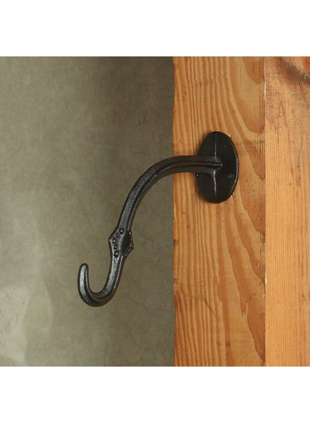 HomArt Gazebo Wall Hook - Cast Iron - Antique Black