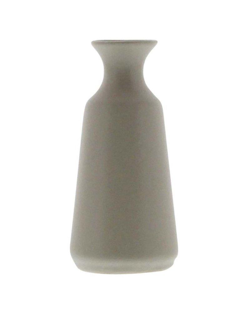 HomArt Mist Ceramic Bud Vase - Sm - Matte Grey