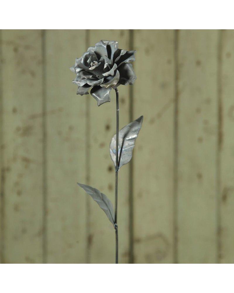 HomArt Rose Galvanized Taper Stake - 4 in - Set of 2