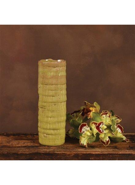 HomArt Burundi Ceramic Vase - Lrg - Grass Green Crackle
