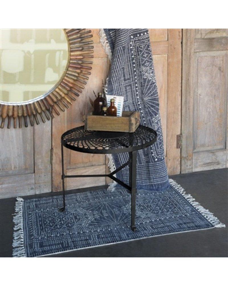 HomArt Woven Iron Table  Black Waxed