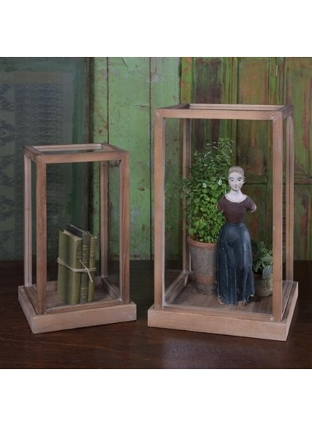 HomArt Kent Vitrine Wood Display Boxes - Set of 2