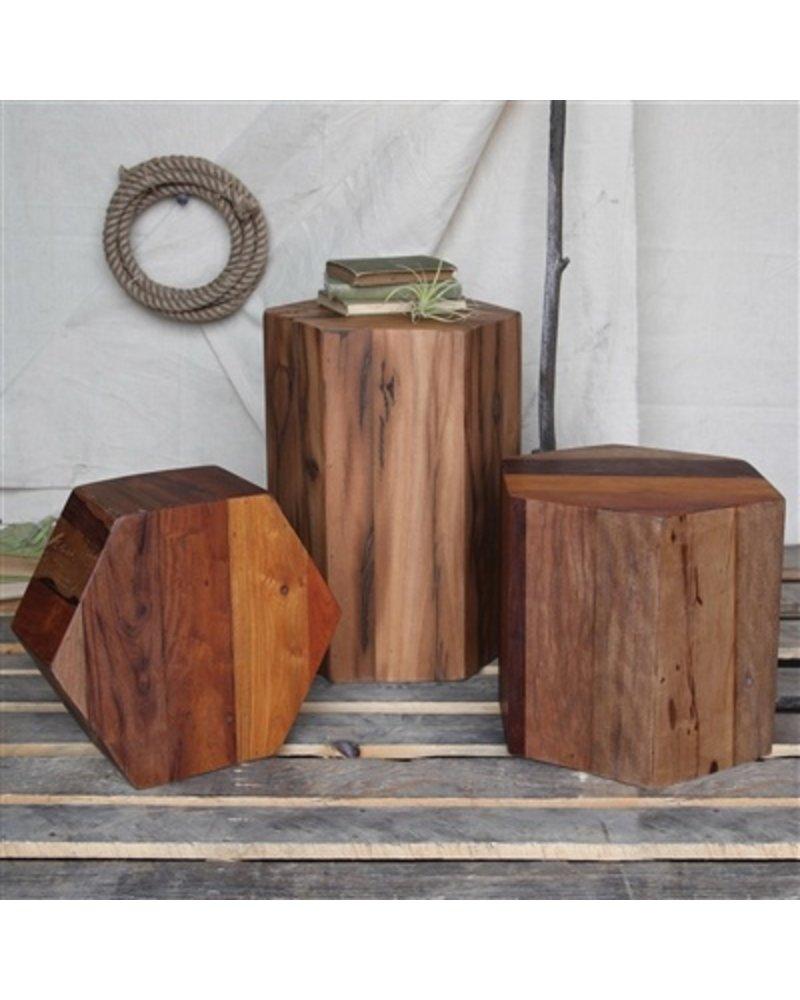 HomArt Hexagonal Wood Block - Med - Natural
