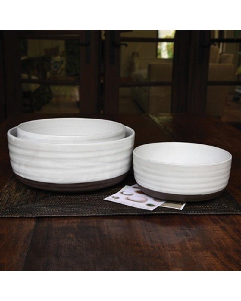 Homart Liam Ceramic Serving Bowls Set Of 3 Areohome