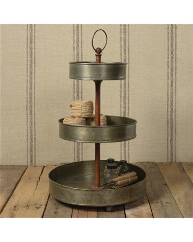 HomArt Fallbrook 3-Tiered Stand  Light Rust Galvanized
