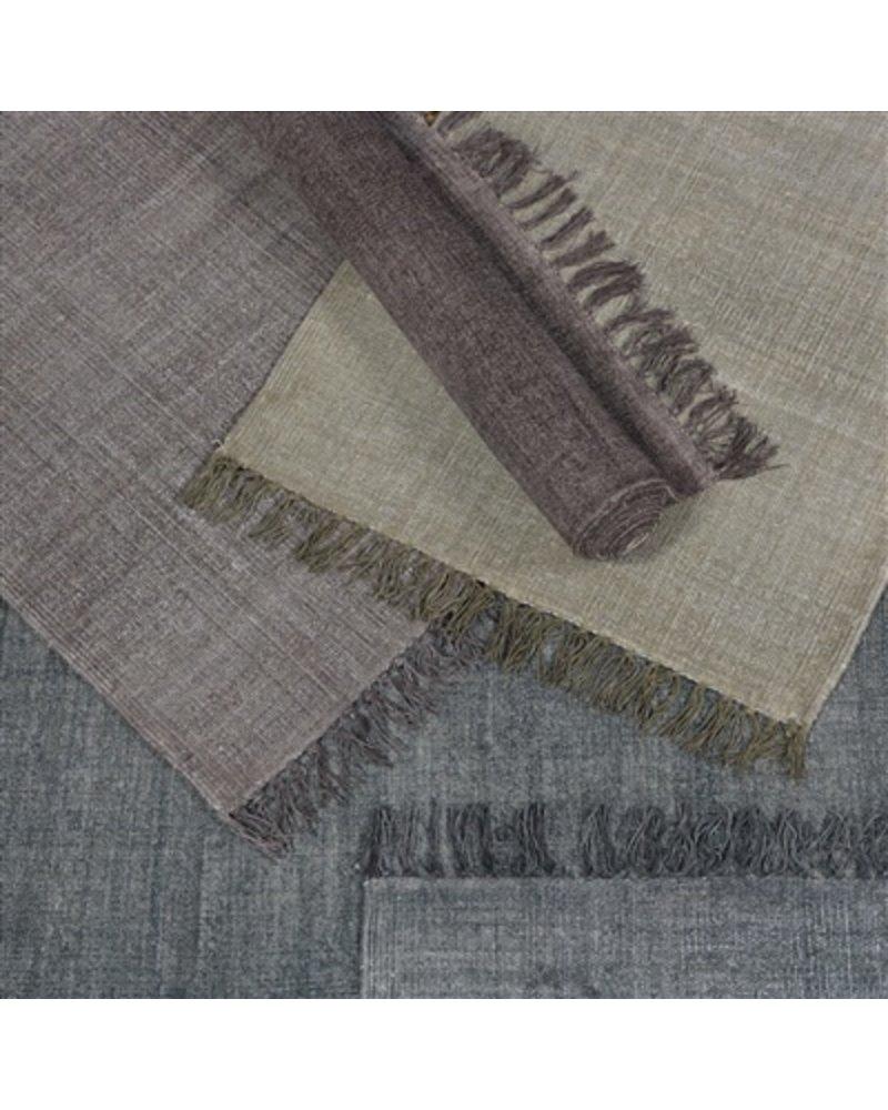 HomArt Stonewashed Cotton Rug, 4x6  Stonewashed Aubergine