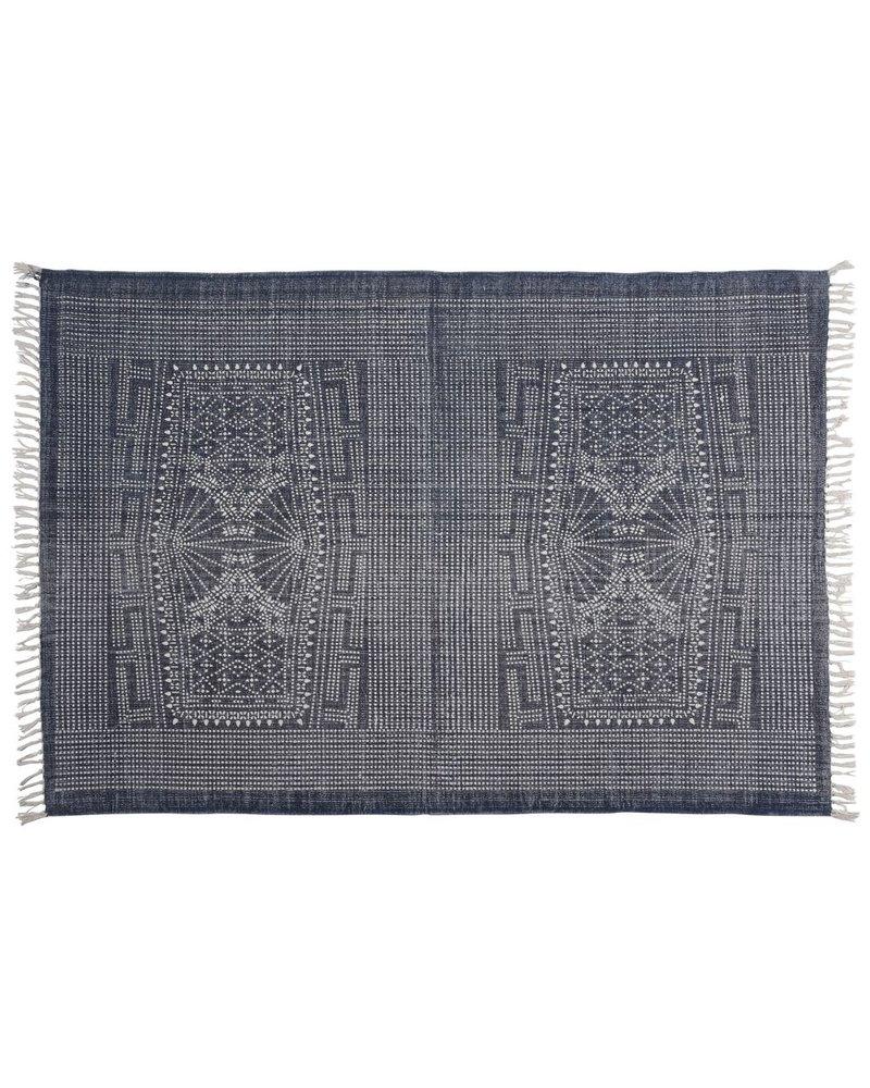 HomArt Indigo Batik Cotton Rug, 4x6  Indigo Batik