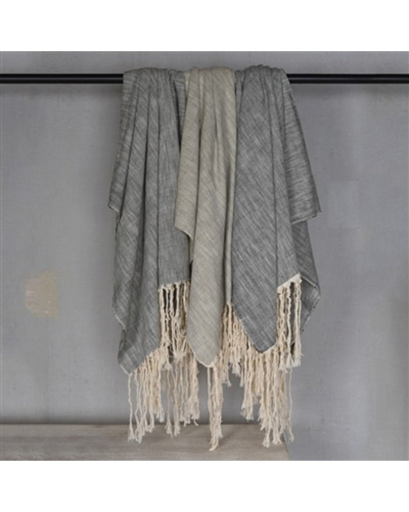 Homart Thompson Cotton Slub Throw Grey Areohome