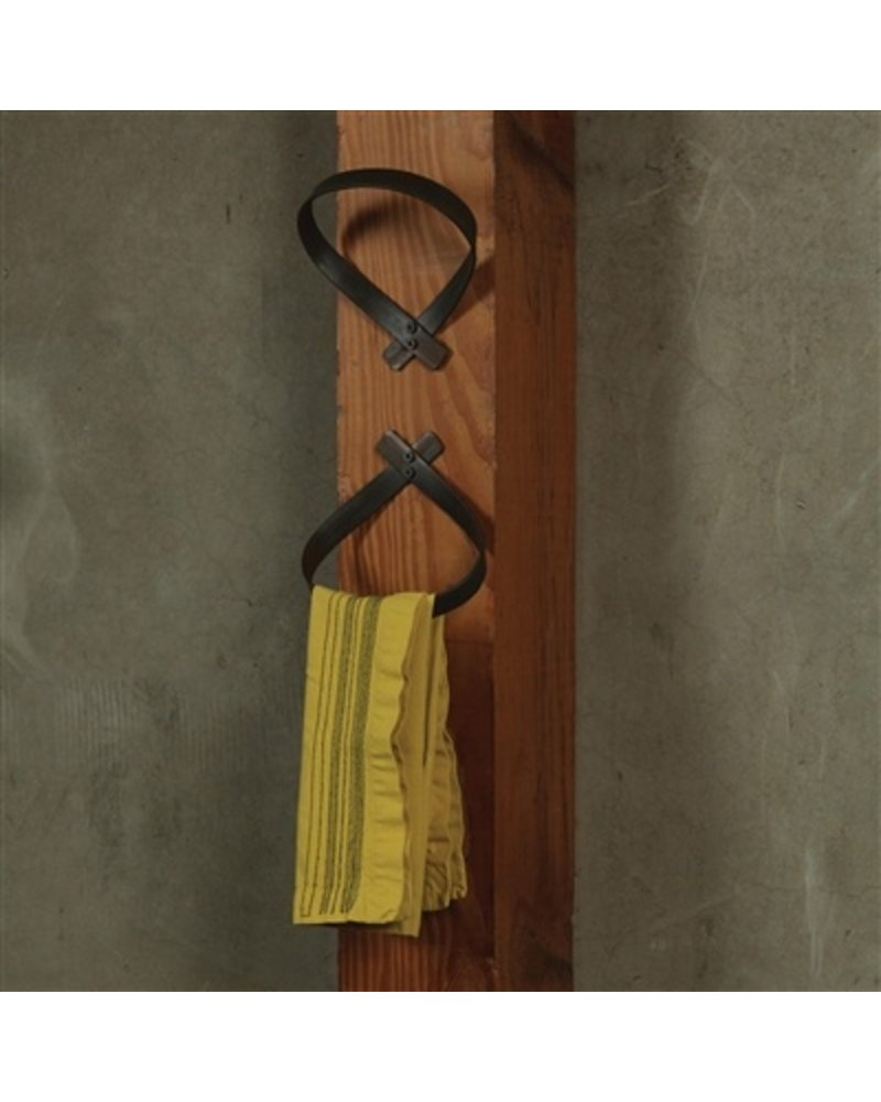 Folded Iron Wall Hook Natural