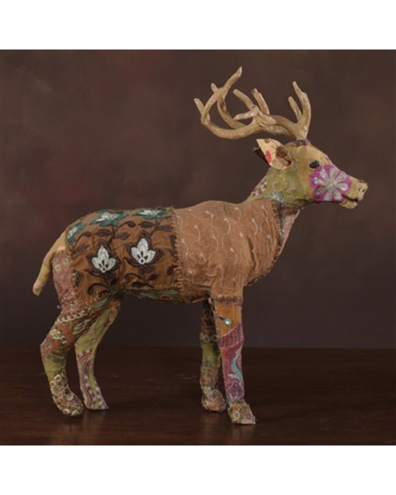 HomArt Bavarian Forest Stag Standing - Lrg  Deep Brown