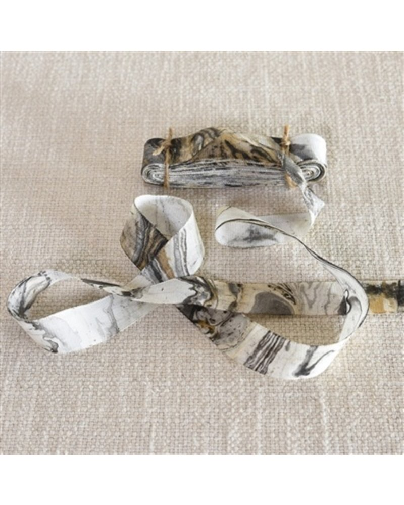 HomArt Marbleized Grosgrain Ribbon - Grey