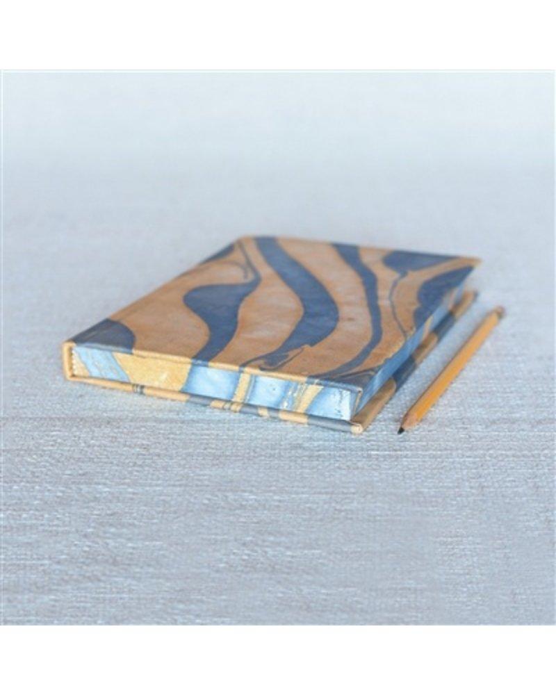 HomArt Marbleized Leather Journal  Blue