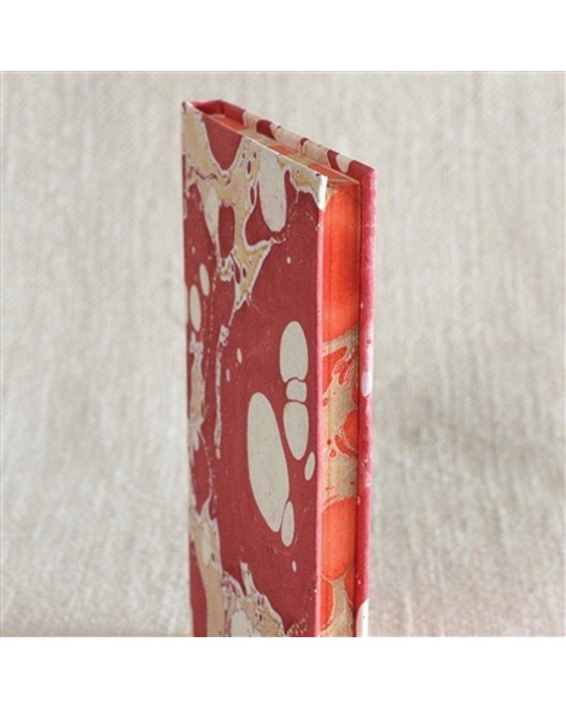HomArt Marbleized Paper Journal - Red