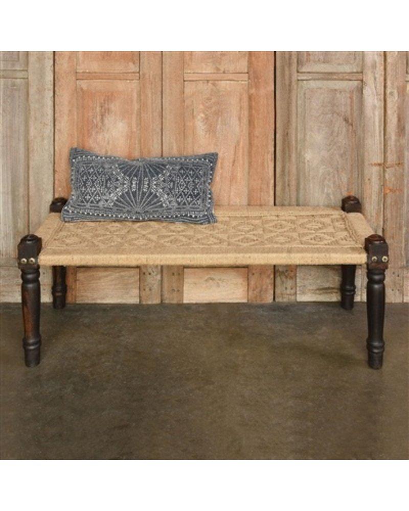 HomArt Indigo Batik Lumbar Pillow 12x24 - Indigo Batik