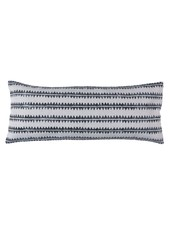HomArt Block Print Lumbar Pillow 14x36 - Sawtooth Stripe